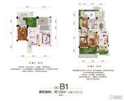 佳兆业水岸华府3室2厅2卫133平方米户型图