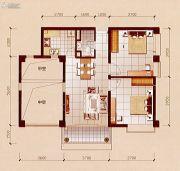 碧兰轩2室2厅1卫95平方米户型图