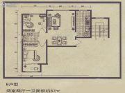 舜天嘉园2室2厅1卫87平方米户型图