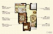 康桥九溪郡2室2厅1卫76平方米户型图