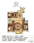世茂滨江府4室2厅3卫0平方米户型图