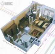 兴庆府大院1室1厅1卫52平方米户型图