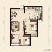 美岸观邸2室2厅1卫75平方米户型图