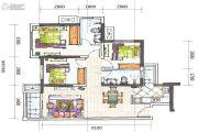 合能枫丹铂麓3室2厅2卫83平方米户型图