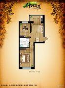什河丽景2室1厅1卫44平方米户型图