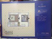 东山海德公馆1室1厅1卫39平方米户型图