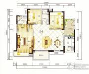 紫园3室2厅2卫127平方米户型图