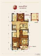 滨江德信东方星城3室2厅2卫89平方米户型图