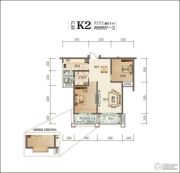 佳乐国际城4期2室2厅1卫81平方米户型图