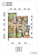 梅州万达广场4室2厅2卫139平方米户型图