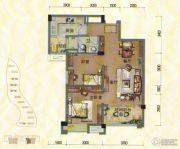 淄博碧桂园2室2厅1卫90平方米户型图