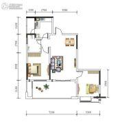 盛美居1室2厅1卫0平方米户型图