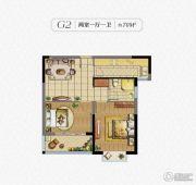 秀逸苏杭2室1厅1卫70平方米户型图