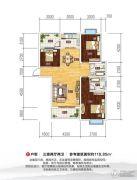 随州明珠小城3室2厅2卫118平方米户型图