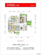 田心公馆3室1厅1卫115平方米户型图