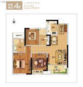 新西塘孔雀城印象澜庭2室2厅2卫0平方米户型图