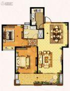 盛和花半里2室1厅1卫103平方米户型图