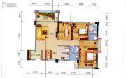 冠亚・国际星城3室2厅2卫107平方米户型图