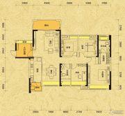 佳兆业东江新城4室2厅2卫136平方米户型图