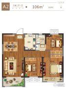 金科城3室2厅1卫106平方米户型图