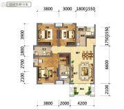 国鑫凤垭山3室2厅2卫112平方米户型图