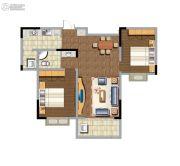 东方名苑2室2厅1卫102平方米户型图