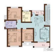 海月名都3室2厅1卫87平方米户型图