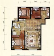 维多利大商城3室2厅2卫110平方米户型图
