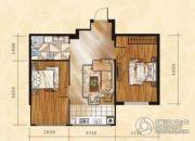 金山翰林苑2室1厅1卫66平方米户型图