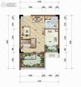 天籁谷1室1厅1卫29平方米户型图