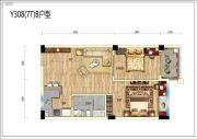 碧桂园润杨溪谷2室2厅1卫67平方米户型图