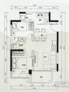 云顶澜山2室2厅1卫61平方米户型图
