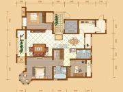 昆河壹号3室2厅2卫136平方米户型图