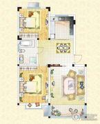 祥育苑2室2厅1卫91平方米户型图