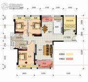 凯旋名门4室2厅2卫135平方米户型图