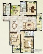 绿都万和城3室2厅2卫0平方米户型图