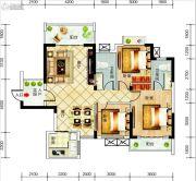 宜都长虹花园3室2厅2卫116平方米户型图