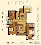 迎恩府3室2厅2卫140平方米户型图