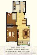 东郡2室2厅1卫89平方米户型图