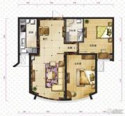 新华联运河湾2室2厅1卫86平方米户型图