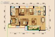 保利湖心岛4室2厅2卫128平方米户型图