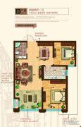 奥北公元2室2厅1卫79平方米户型图