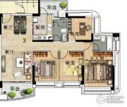 雅居乐新城湾畔4室2厅2卫140平方米户型图