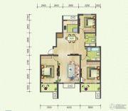 高尔夫国际花园3室2厅2卫161平方米户型图