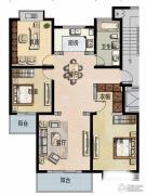 福宇凤凰华庭3室2厅1卫118平方米户型图