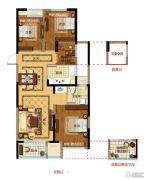 金都夏宫4室2厅1卫0平方米户型图