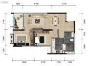 远洋天骄广场2室2厅1卫80平方米户型图