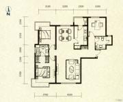 富力津门湖3室2厅2卫147平方米户型图