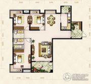 美岸观邸3室2厅2卫134--136平方米户型图