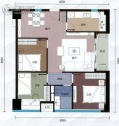 G1蜂汇3室2厅1卫90平方米户型图
